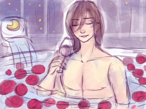お風呂中のルーナ王子