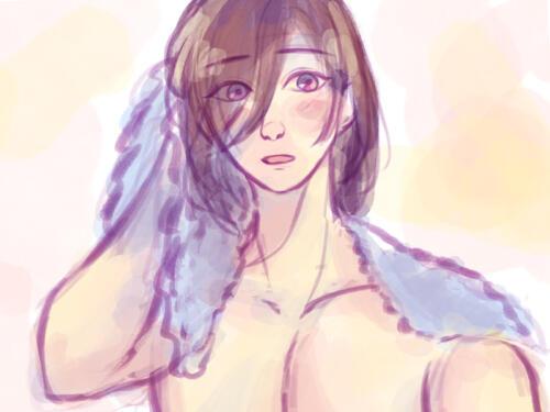 風呂上がりのルーナ王子